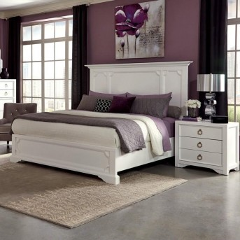 Coaster Furiani White King Panel Bed Available Online in Dallas Fort Worth Texas