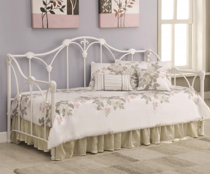 Coaster Floral White Twin Daybed Available Online in Dallas Fort Worth Texas