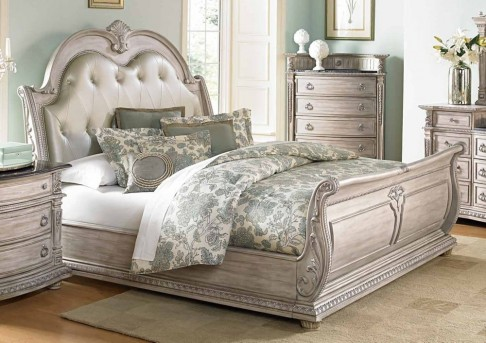 Palace White King Bed Available Online in Dallas Fort Worth Texas