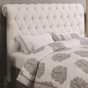 Coaster Devon White King Rolled Headboard Available Online in Dallas Fort Worth Texas
