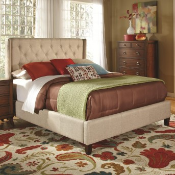 Coaster Owen Beige Cal King Upholstered Bed Available Online in Dallas Fort Worth Texas