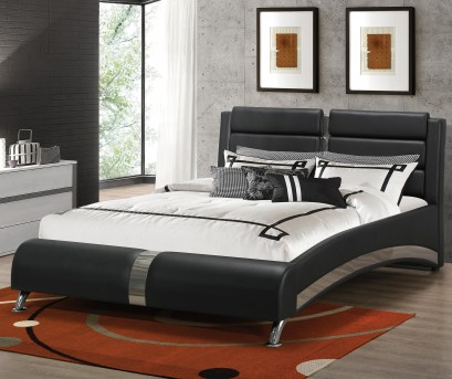 Coaster Astern Black Queen Upholstered Platform Bed Available Online in Dallas Fort Worth Texas