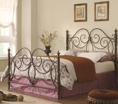 Coaster London Caramel King Metal Panel Bed Available Online in Dallas Fort Worth Texas