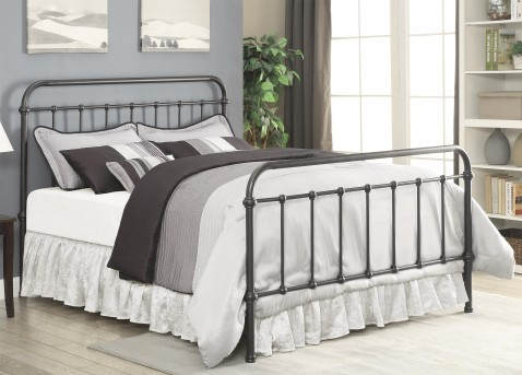 Coaster Livingston Dark Bronze Cal King Metal Bed Available Online in Dallas Fort Worth Texas