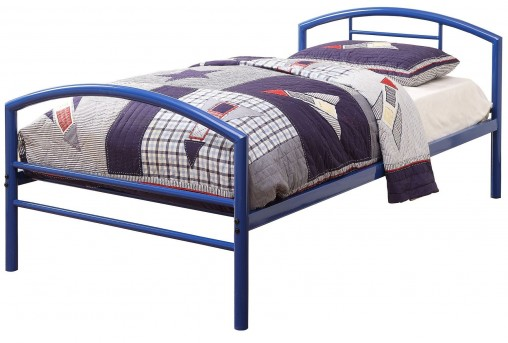 Baines Blue Twin Panel Bed Available Online in Dallas Fort Worth Texas