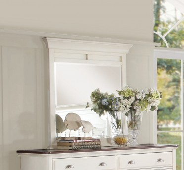 Homelegance Floresville Antique White Mirror Available Online in Dallas Fort Worth Texas