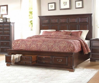 Homelegance Cranfills Cherry Queen Bed Available Online in Dallas Fort Worth Texas