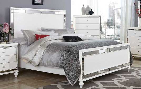 Homelegance Alonza Bright White Queen Bed Available Online in Dallas Fort Worth Texas