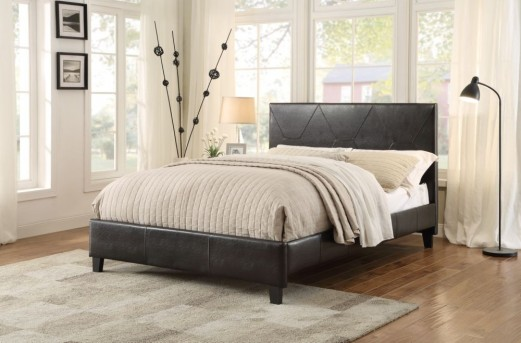 Deleon Dark Brown Queen Platform Bed Available Online in Dallas Fort Worth Texas