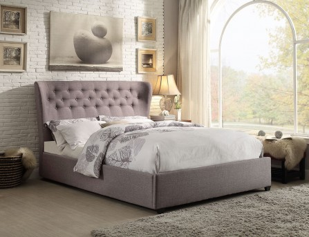 Homelegance Wade Grey Queen Wing Bed Available Online in Dallas Fort Worth Texas