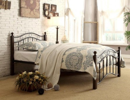 Homelegance Averny Black & Brown Twin Metal Platform Bed Available Online in Dallas Fort Worth Texas