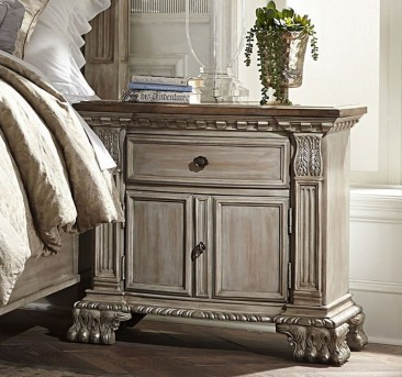Homelegance Orleans II Antiqued White Night Stand Available Online in Dallas Fort Worth Texas