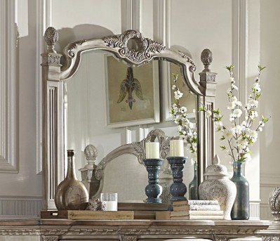 Homelegance Orleans II Antiqued White Mirror Available Online in Dallas Fort Worth Texas