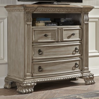 Homelegance Orleans II Antiqued White Media Chest Available Online in Dallas Fort Worth Texas