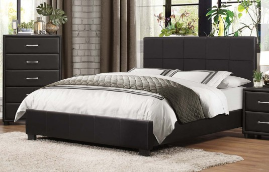 Homelegance Lorenzi Black King Platform Bed Available Online in Dallas Fort Worth Texas