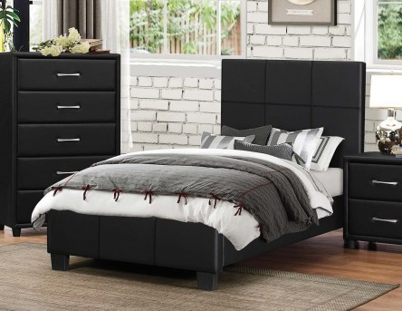Homelegance Lorenzi Black Full Platform Bed Available Online in Dallas Fort Worth Texas