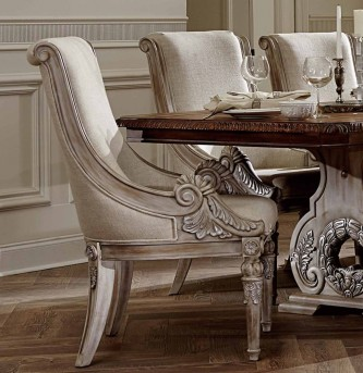 Homelegance Orleans II Antiqued White Arm Chair Available Online in Dallas Fort Worth Texas