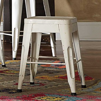 Amara 18'' White Barstool Available Online in Dallas Fort Worth Texas