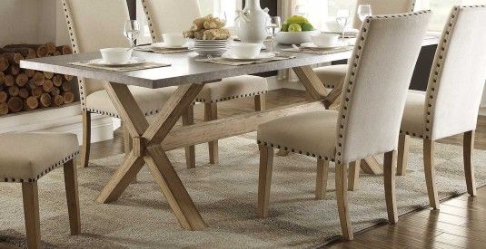 Homelegance Luella Weathered Oak Dining Table Available Online in Dallas Fort Worth Texas