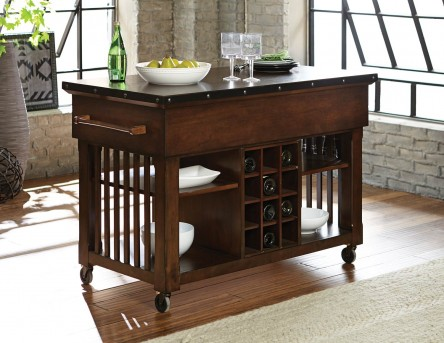 Homelegance Schleiger Kitchen Cart with Casters Available Online in Dallas Fort Worth Texas