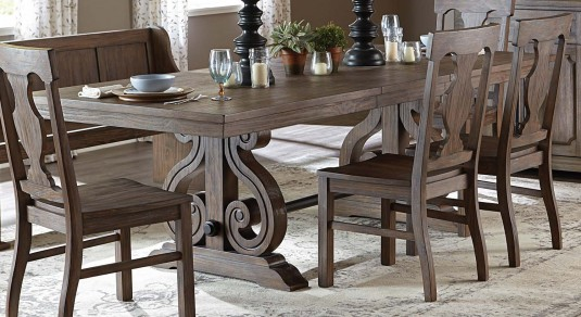 Homelegance Toulon Dark Oak Dining Table Available Online in Dallas Fort Worth Texas