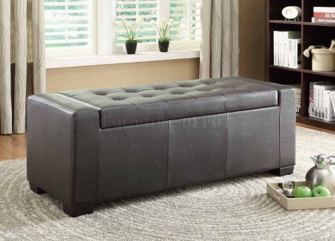 Homelegance Tigard Dark Brown Lift-Top Storage Bench Available Online in Dallas Fort Worth Texas
