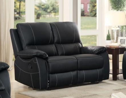 Homelegance Greeley Black Double Reclining Loveseat Available Online in Dallas Fort Worth Texas