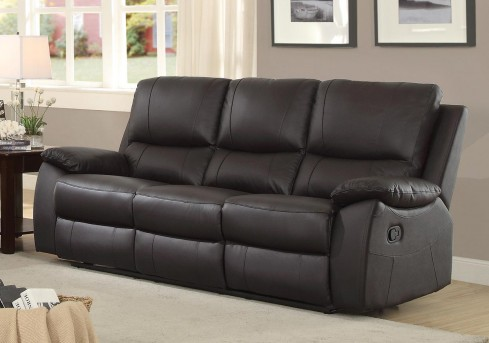 Homelegance Greeley Brown Double Reclining Sofa Available Online in Dallas Fort Worth Texas