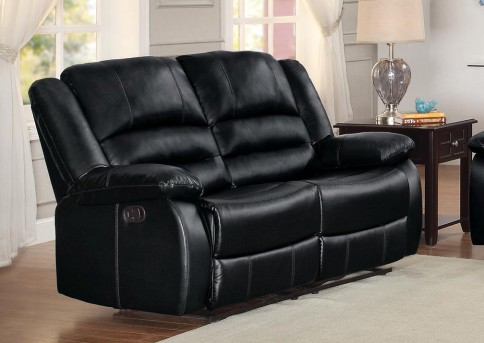 Homelegance Jarita Black Double Reclining Love Seat Available Online in Dallas Fort Worth Texas
