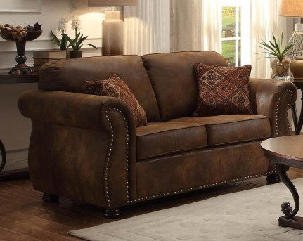 Homelegance Corvallis Brown Loveseat Available Online in Dallas Fort Worth Texas