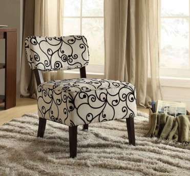 Homelegance Orson Black & White Swirl Accent Chair Available Online in Dallas Fort Worth Texas