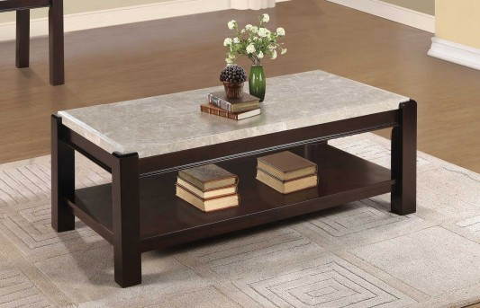 Homelegance Festus Dark Cherry Coffee Table Available Online in Dallas Fort Worth Texas