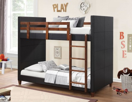 Coaster Chapman Black & Nutmeg Twin-over-Twin Bunk Bed Available Online in Dallas Fort Worth Texas