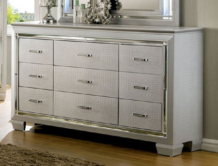 FOA Furniture Of America Bellanova Silver Dresser Available Online in Dallas Fort Worth Texas