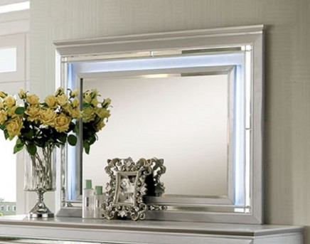 FOA Furniture Of America Bellanova Silver Mirror Available Online in Dallas Fort Worth Texas