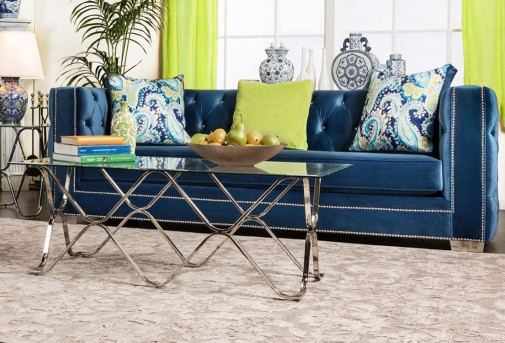 FOA Furniture Of America Salvador Sofa Available Online in Dallas Fort Worth Texas