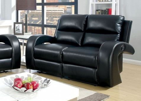 FOA Furniture Of America Odette Black Loveseat Available Online in Dallas Fort Worth Texas