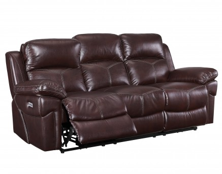 New Classic Warner Power Recline Sofa Available Online in Dallas Fort Worth Texas