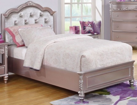 Coaster Caroline Metallic Lilac Twin Platform Bed Available Online in Dallas Fort Worth Texas