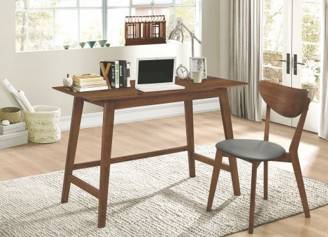 Coaster Garson Walnut Mid-Century Desk and Chair Set Available Online in Dallas Fort Worth Texas