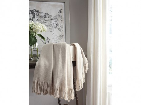 Ashley Haiden Ivory/Taupe Throw Available Online in Dallas Fort Worth Texas