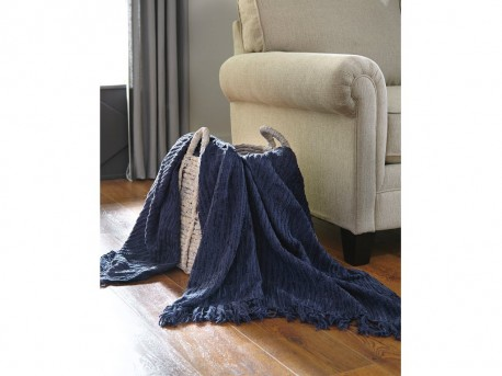 Ashley Noland Navy Throw Available Online in Dallas Fort Worth Texas