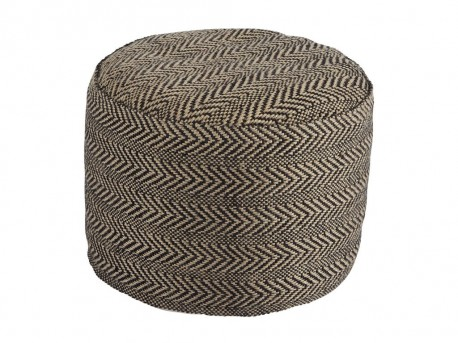 Ashley Chevron Natural Pouf Available Online in Dallas Fort Worth Texas