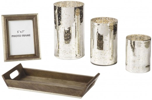 Ashley Dexton Mercury Glass Brown Accessory Set of 5 Available Online in Dallas Fort Worth Texas