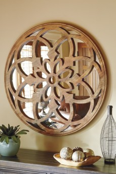 Ashley Oilhane Natural Accent Mirror Available Online in Dallas Fort Worth Texas