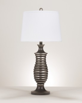 Ashley Rory Antique Silver Metal Table Lamp Set of 2 Available Online in Dallas Fort Worth Texas