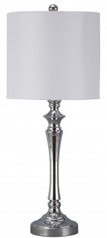 Ashley Taji Chrome Metal Table Lamp Set of 2 Available Online in Dallas Fort Worth Texas