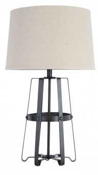 Ashley Samiya Antique Black Metal Table Lamp Available Online in Dallas Fort Worth Texas