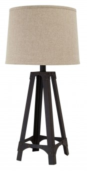 Ashley Satchel Brown Metal Table Lamp Available Online in Dallas Fort Worth Texas
