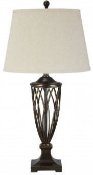 Ashley Makai Brown Poly Table Lamp Available Online in Dallas Fort Worth Texas